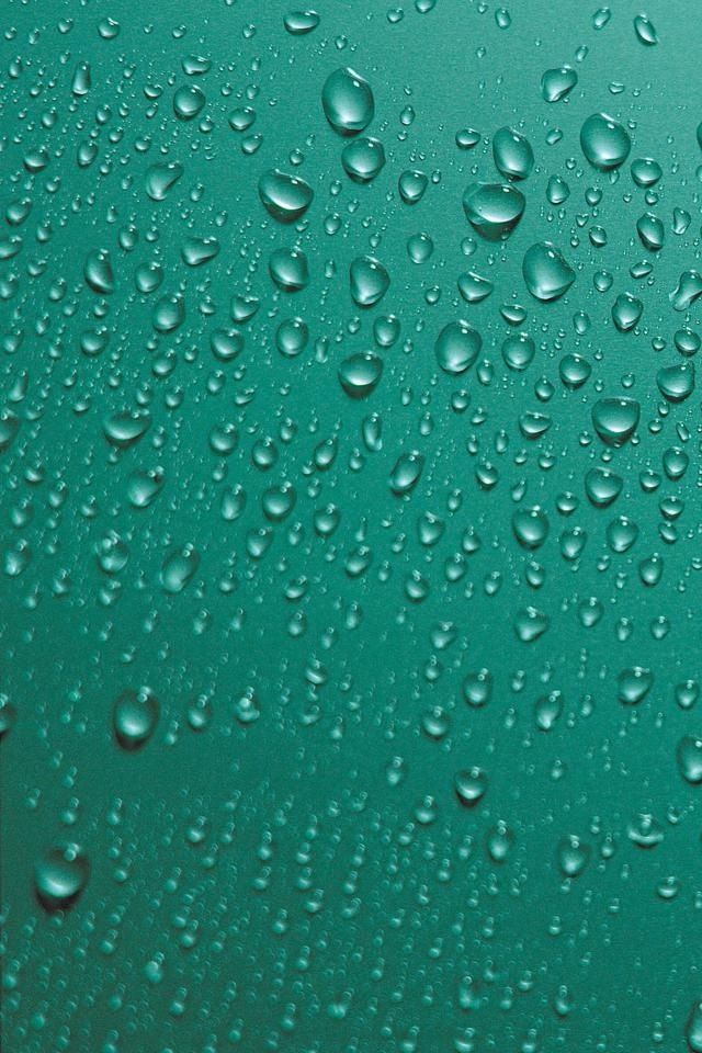 Green Water Droplets Iphone Wallpaper Download Iphone Wallpapers