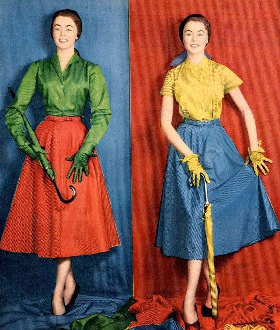 Outfits For Spring And Summer From Designer Noel Burdett From Manchester Colourful Outfits Fifties Fashion Vintage Fashion Photography