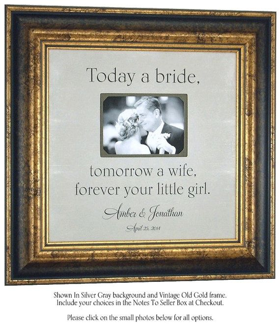 Personalized Father Of The Bride Picture Frame Gift Father