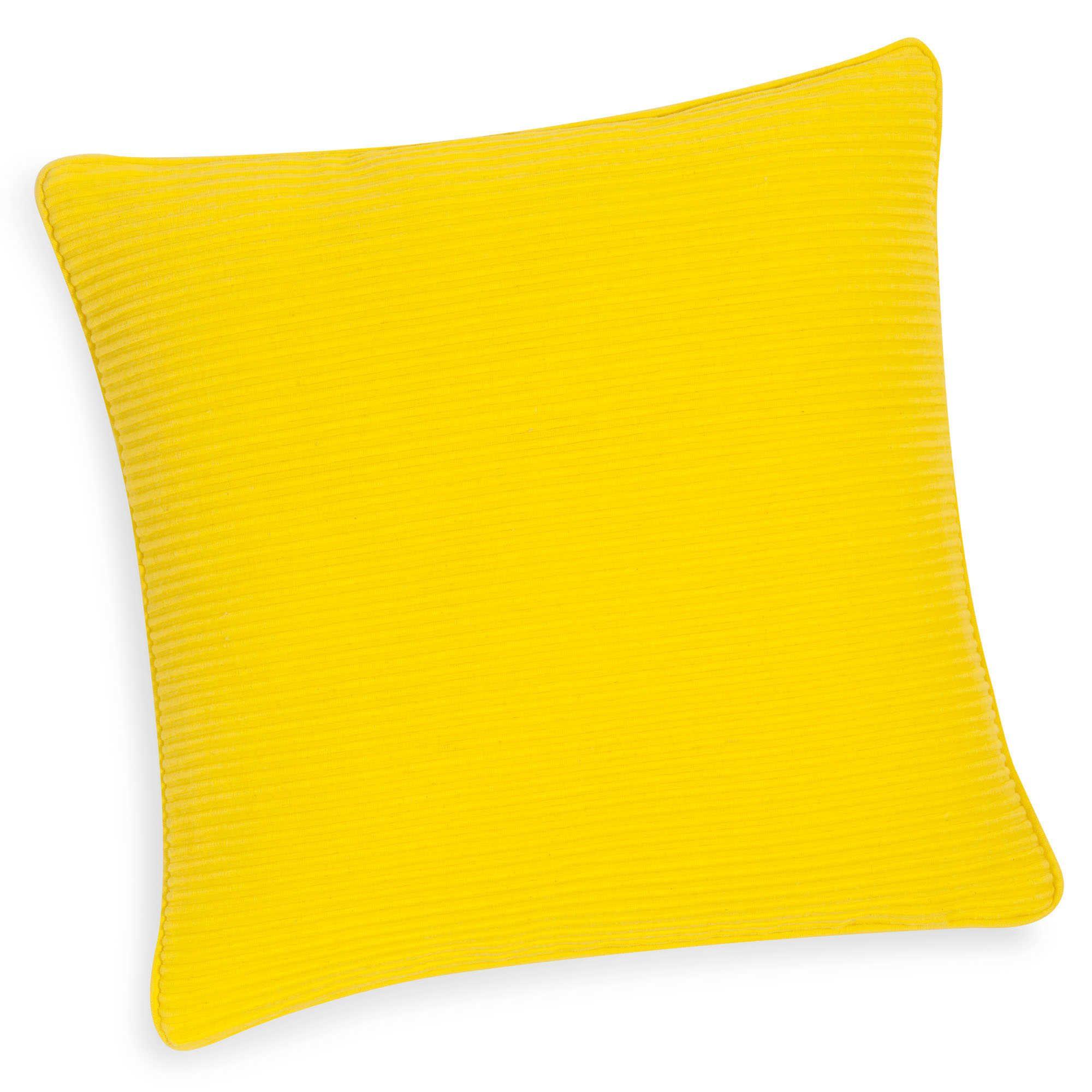 Funda de cojín amarillo 40 x 40 cm COSTA