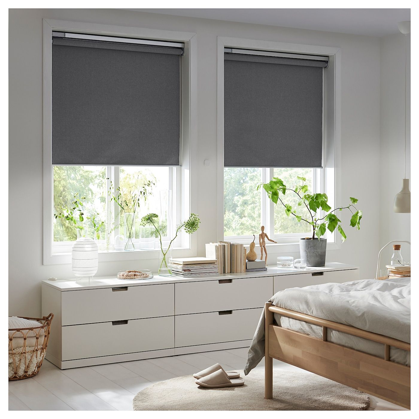 Fyrtur Blackout Roller Blind Wireless Battery Operated Gray Canada En Ikea Ikea Zuhause Elektrische Jalousien Fensterrollos