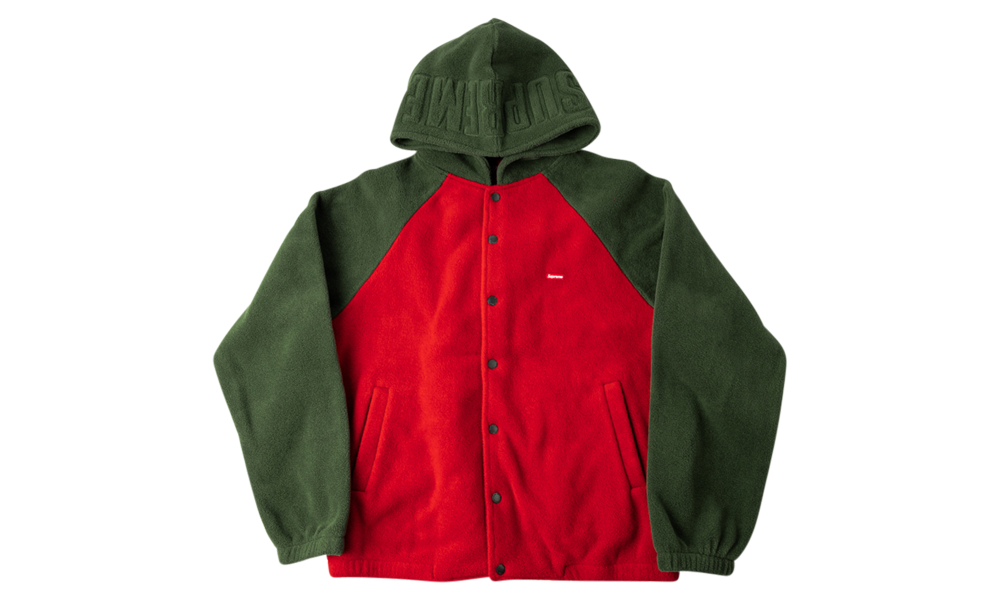 Supreme Polartec Hooded Raglan Jacket Fw 18 Su8620 In 2021 Supreme Clothing Jackets Raglan