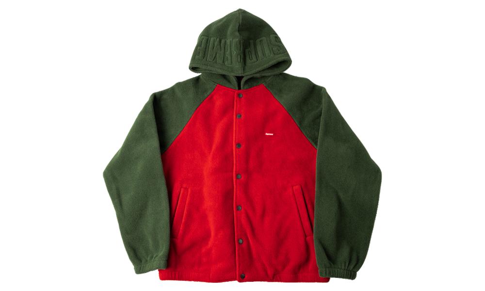 Supreme Polartec Hooded Raglan Jacket Fw 18 Su8620 In 2021 Supreme Clothing Jackets Raglan