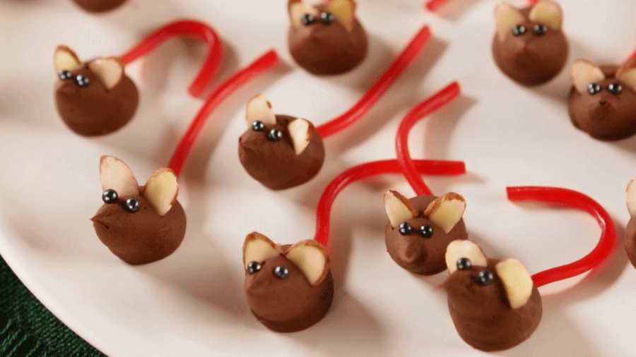 Yummy no-bake chocolate and peanut butter truffles look ...