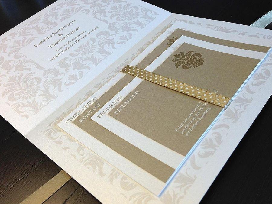 Hochzeitseinladung Edel Für Schloss Hochzeit