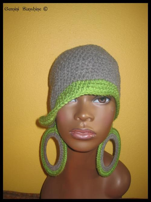 5 Dollars Off - Classy Hippie Crochet Hat and Earrings | Crochet ...