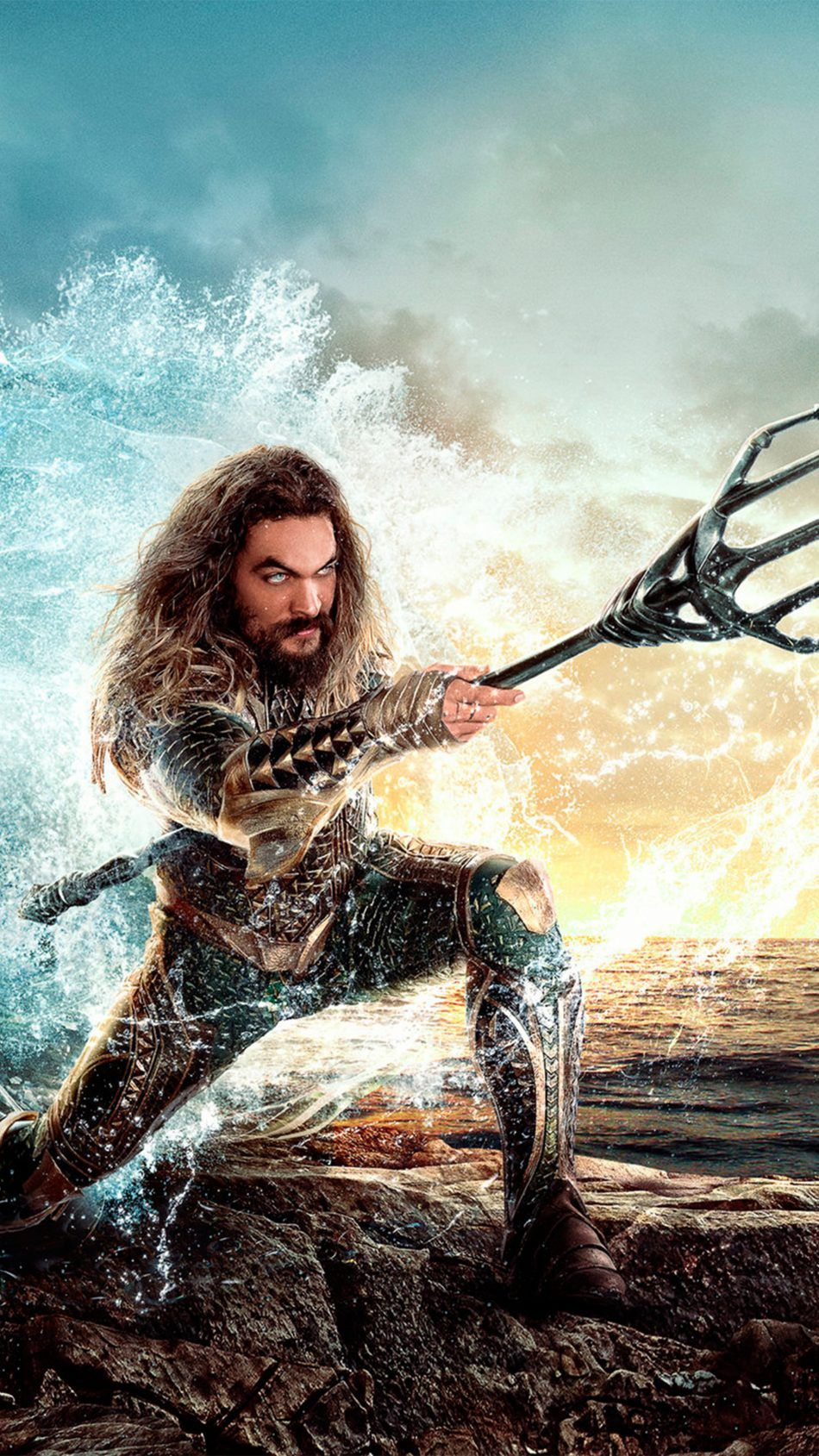 Jason Momoa In Aquaman 2018 Movie Movie Wallpapers Pinterest