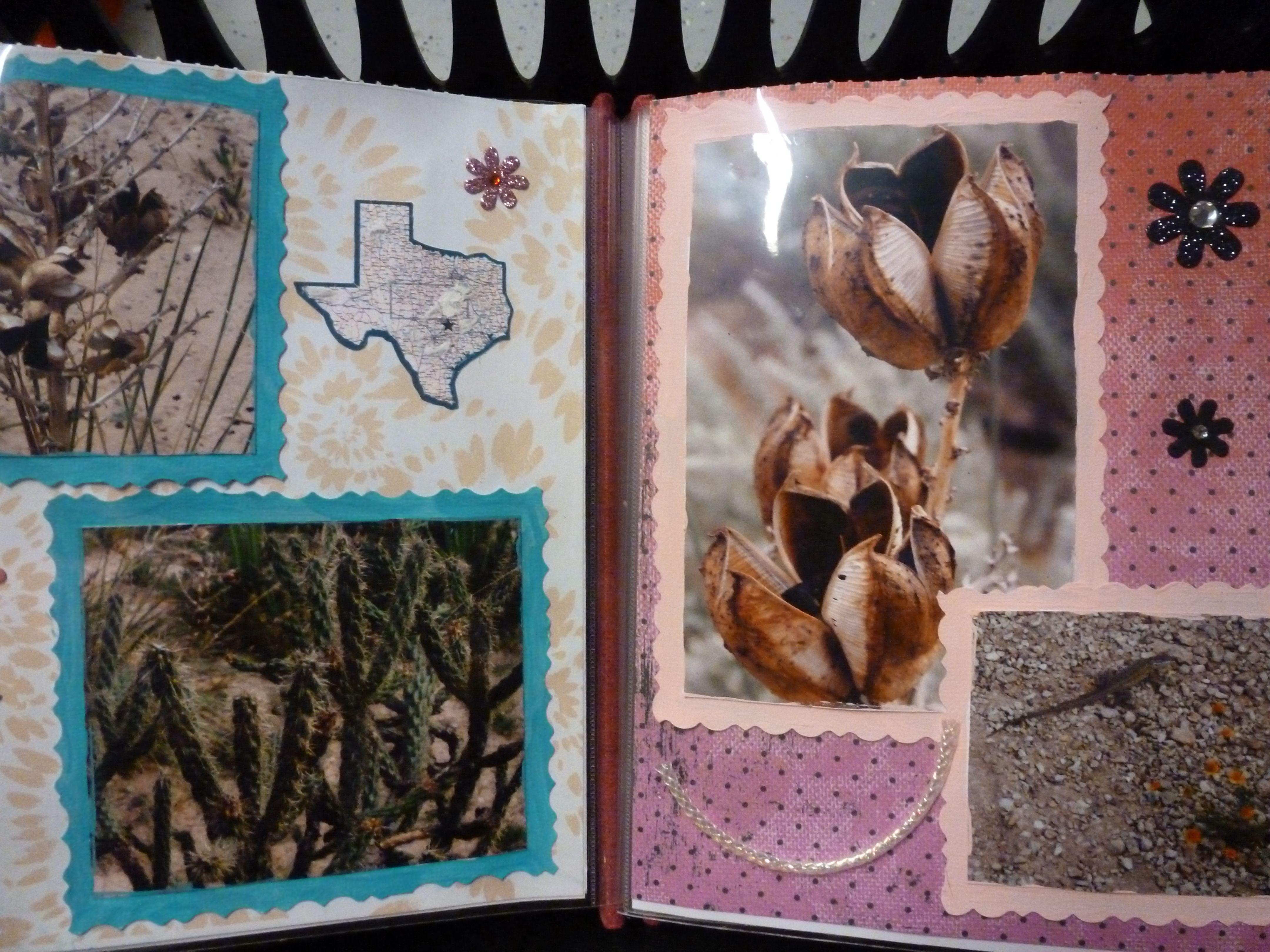 How to scrapbook 8x8 layouts - Monihans State Park West Texas Scrapbook Layout 8x8