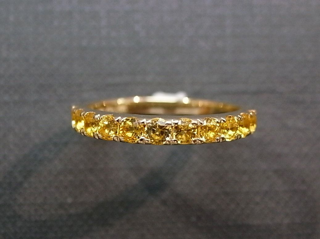 Yellow Shire Wedding Ring In 14k Gold 380 00 Via Etsy