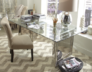 Turn A Glass Top Dining Table Into A Super Chic Workspace  Home Awesome Macys Dining Room Chairs Decorating Inspiration