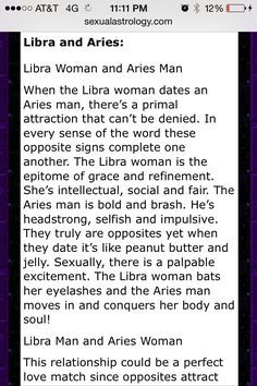 Compatibility Of Aries Woman And Libra Man