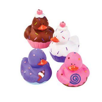 Amazon.com: 12 Sweet Treat Cupcake Ice Cream Rubber Ducks: Toys & Games