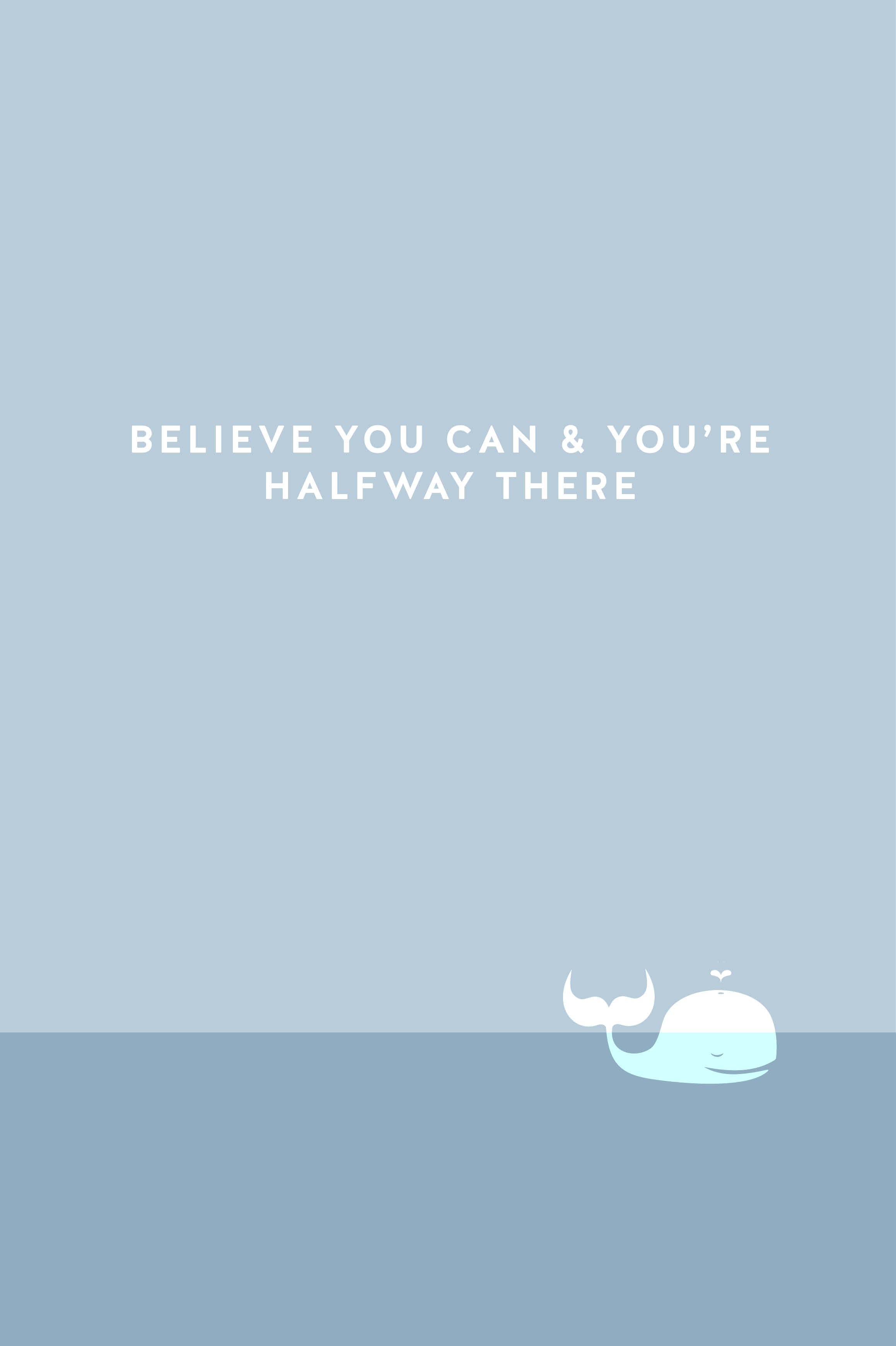 Positive Quote Simple iPhone Wallpaper PanPins