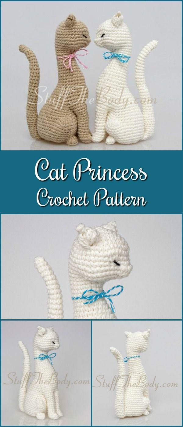 Cat Princess Amigurumi Pattern, Realistic Cat Crochet Pattern, home ...