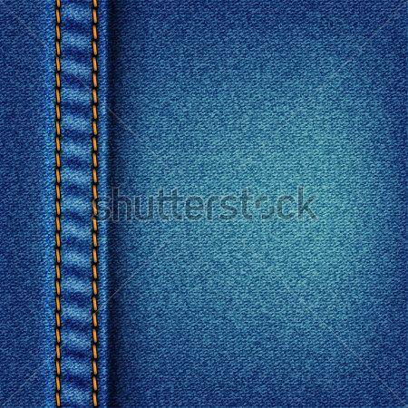 daac9127bb Textura de jeans con puntada. Fondo de tela blue jeans. Ilustración de la  trama. Archivo de Vector incluido en la cartera