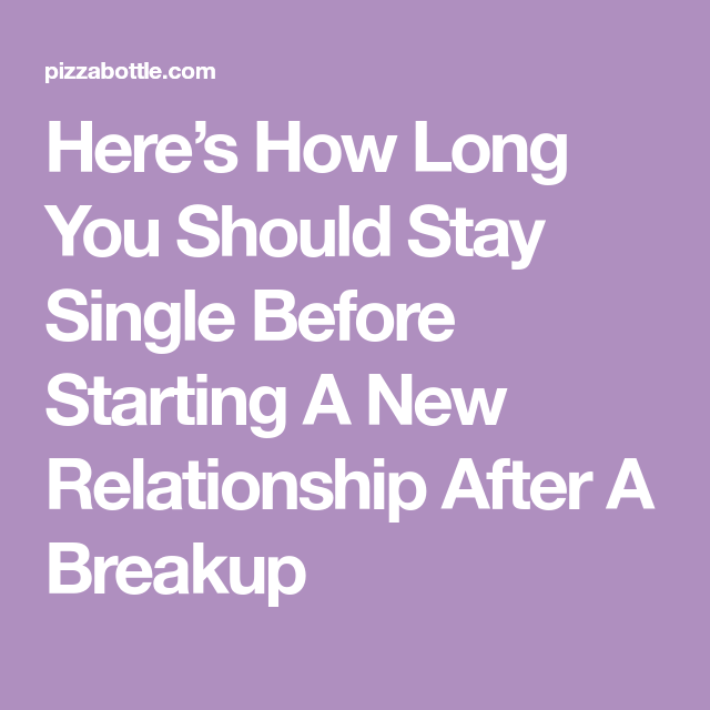 A new relationship after a breakup