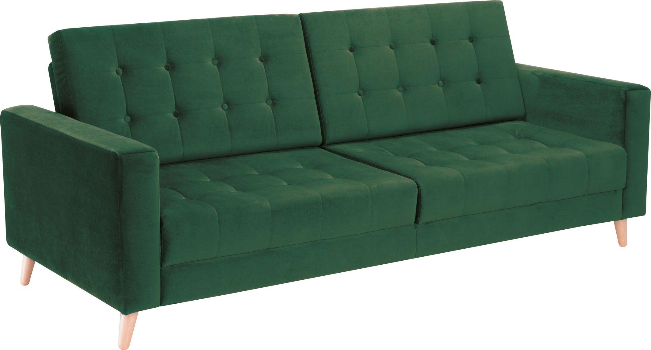 Sofa 3 Osobowa Z Funkcją Spania Piqu Wnętrza Dekoracje