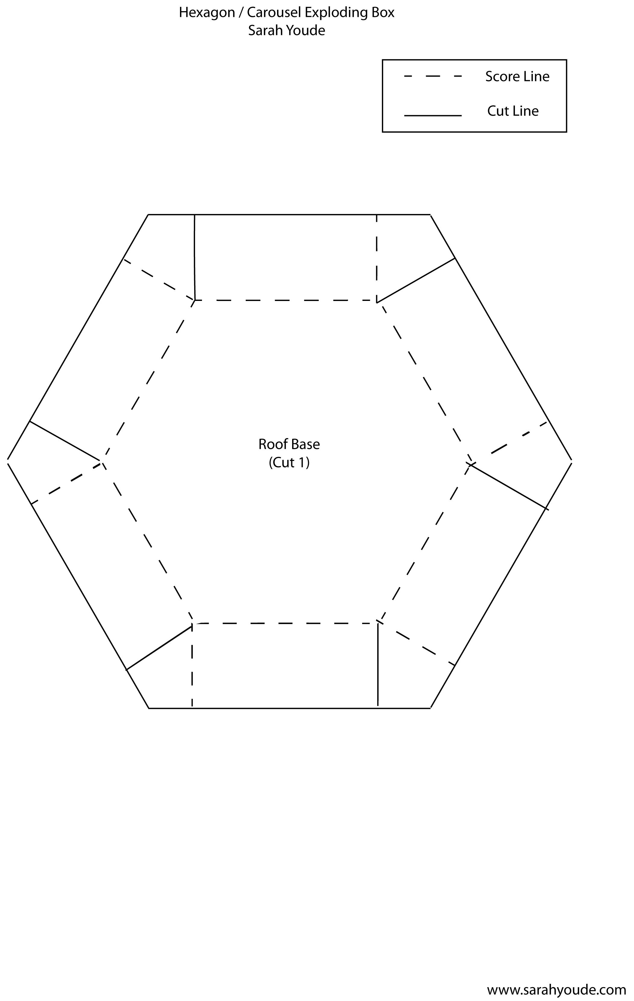Printable Octagon Exploding Box Www Topsimages Com