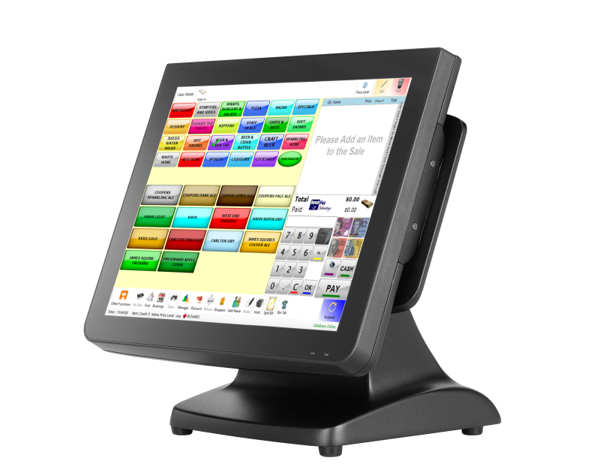 Picture Of Pos System Partner Tech Sp 850 Touchscreen Point Of Sale Terminal Touch Screen Point Of Sale Pos