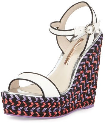 44359aa367a1 Sophia Webster leather sandal with contrast piping. 5.5