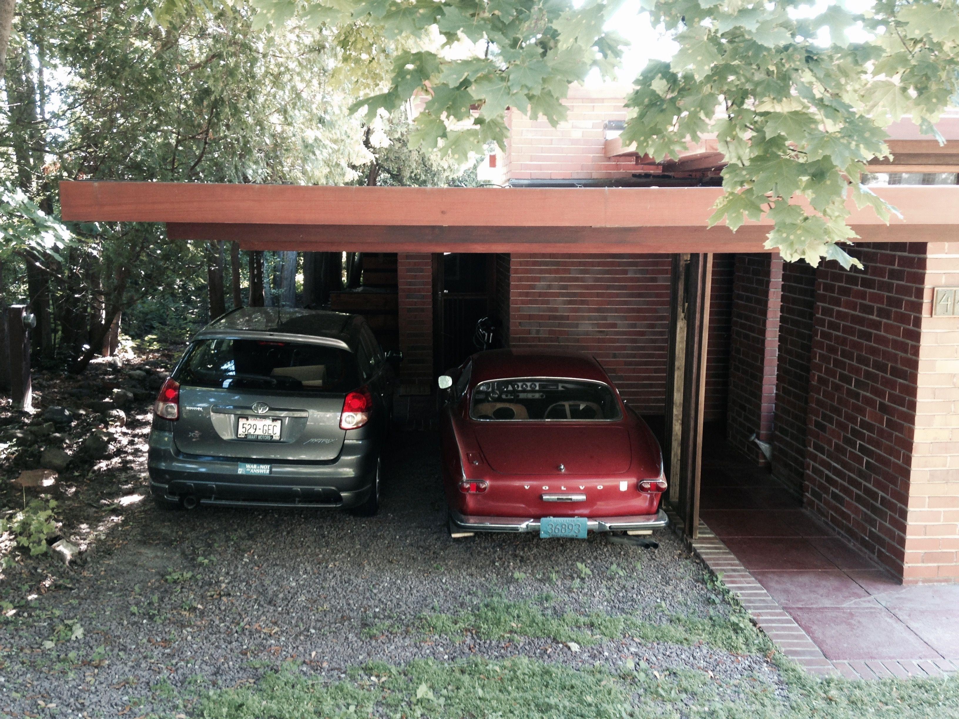 Usonia 1 99 Invisible Garage Design Luxury Garage Craftsman Garage Door Opener