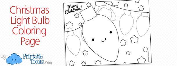 Printable Christmas Light Bulb Coloring Page