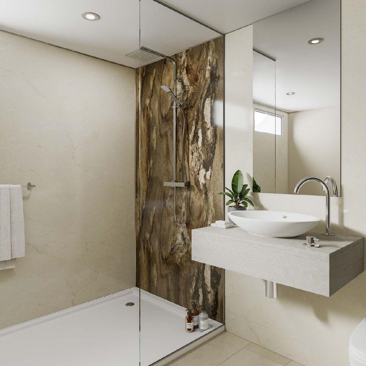Multipanel Linda Barker Dolce Macchiato 2400mm X 1200mm Hydro Lock Tongue Groove Bathroom Wall Panel Bathroom Wall Panels Shower Wall Panels Amazing Bathrooms