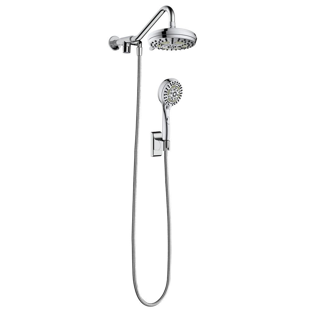 Pulse Showerspas 6 Spray 7 In Dual Shower Head And Handheld