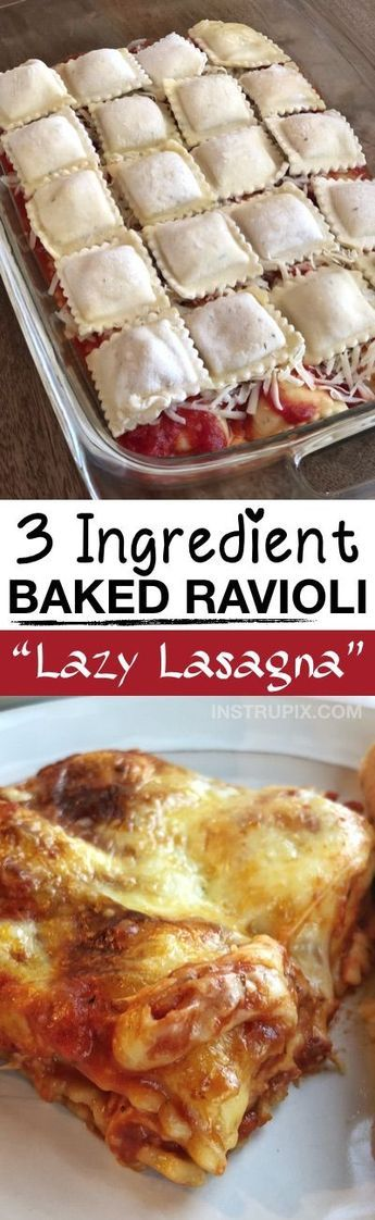 Easy Ravioli Bake #dishesfordinner