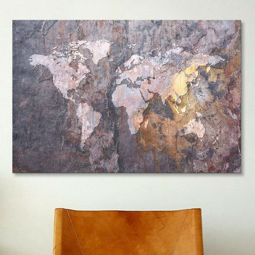 Icanvas world map on stone background graphic art on canvas nestal icanvas world map on stone background graphic art on canvas gumiabroncs Gallery