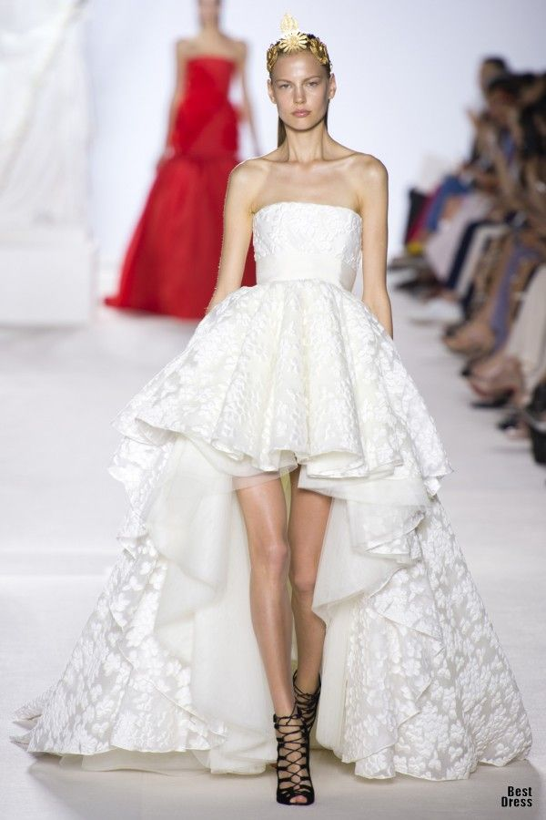 Giambattista Valli - example of hi-low. not crazy about this version ...