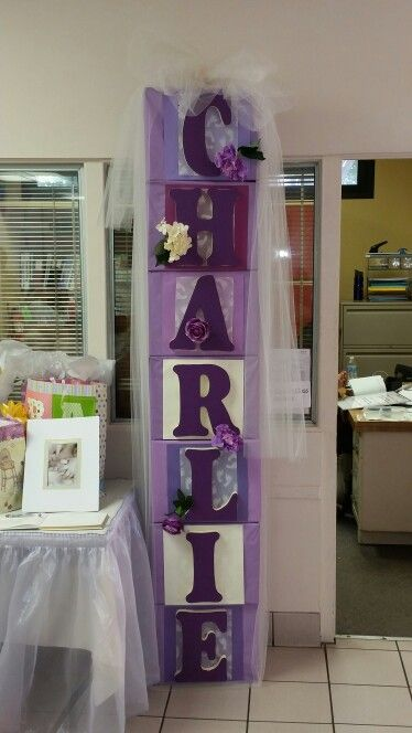 Baby Shower Decorations Box Lettering Ideas Baby Shower