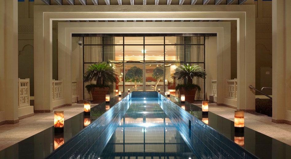 Grand hyatt doha qatar spa lighting by elektra lighting® spa