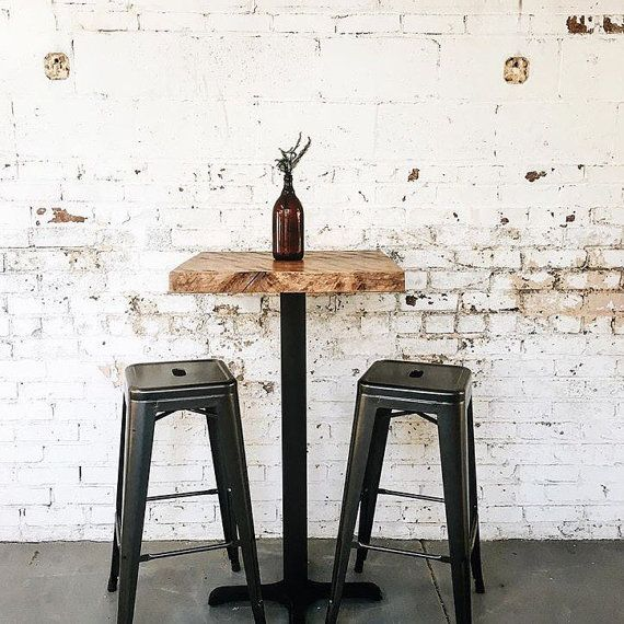 Reclaimed Industrial Cafe Pub Bistro Table With Images