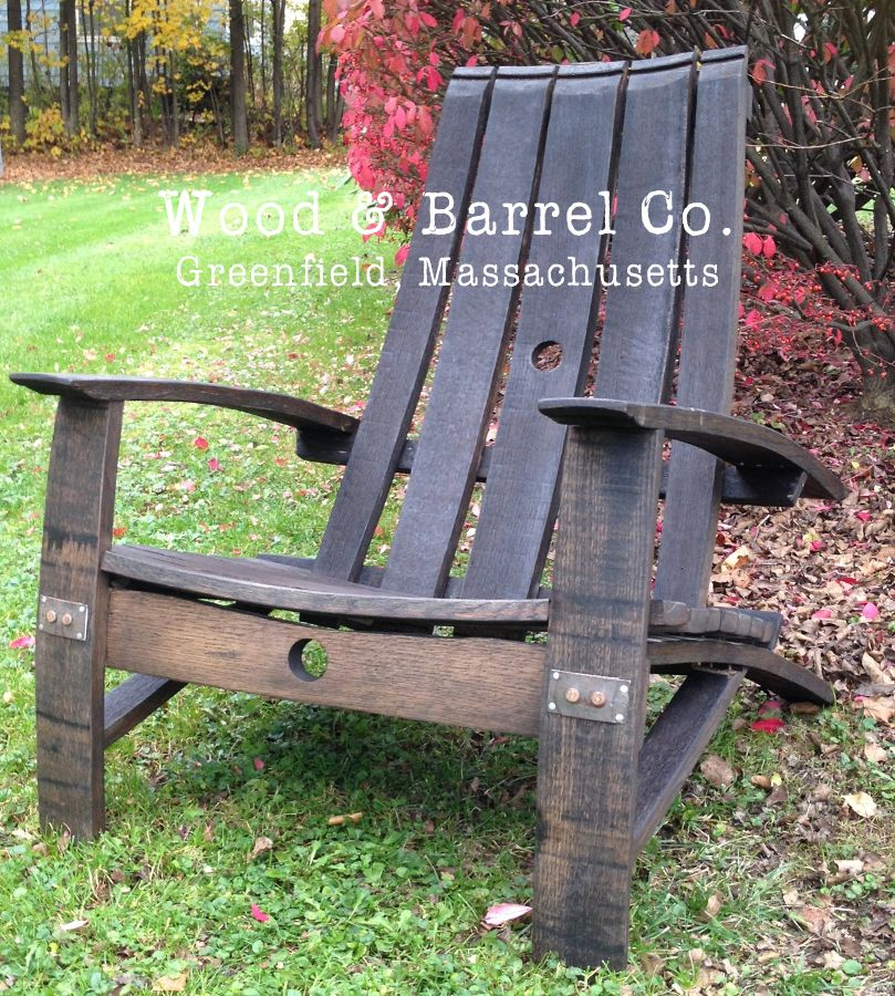 5 Stave Narrow Back Reclaimed Wood Adirondack Chair by Wood & Barrel Co.,  Greenfield - 5 Stave Narrow Back Reclaimed Wood Adirondack Chair By Wood