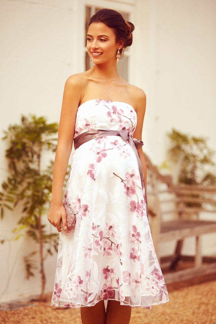 Bandeau Umstandskleid Cherry Blossom  Umstandskleid, Umstandsmode