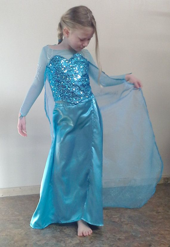 Queen Elsa Inspired Childrens Frozen Costume by SewMoochieMarie, $275.00
