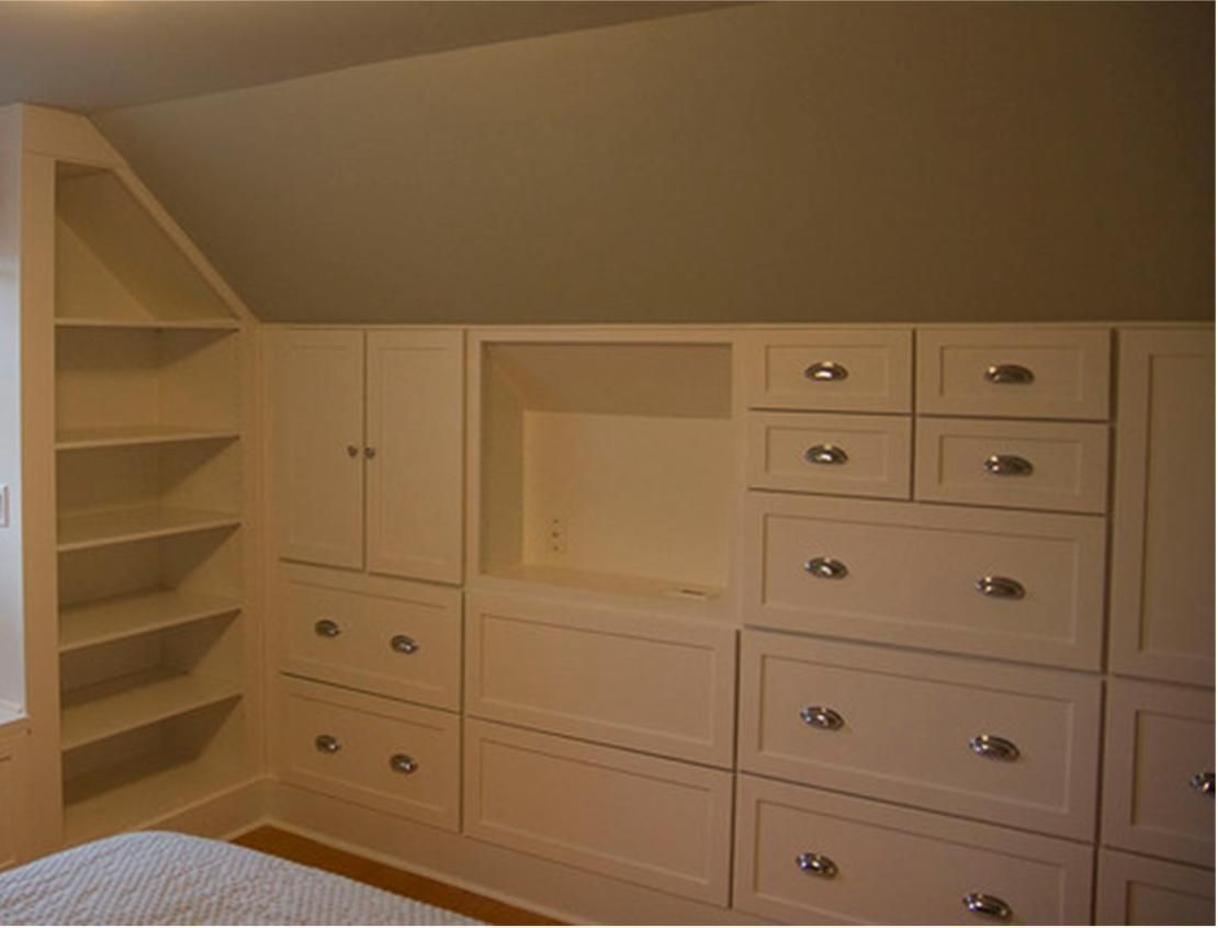 Crawl Space Built In Closet Renovation Attic Bedroom Ideas Angled Ceilings Build A Closet
