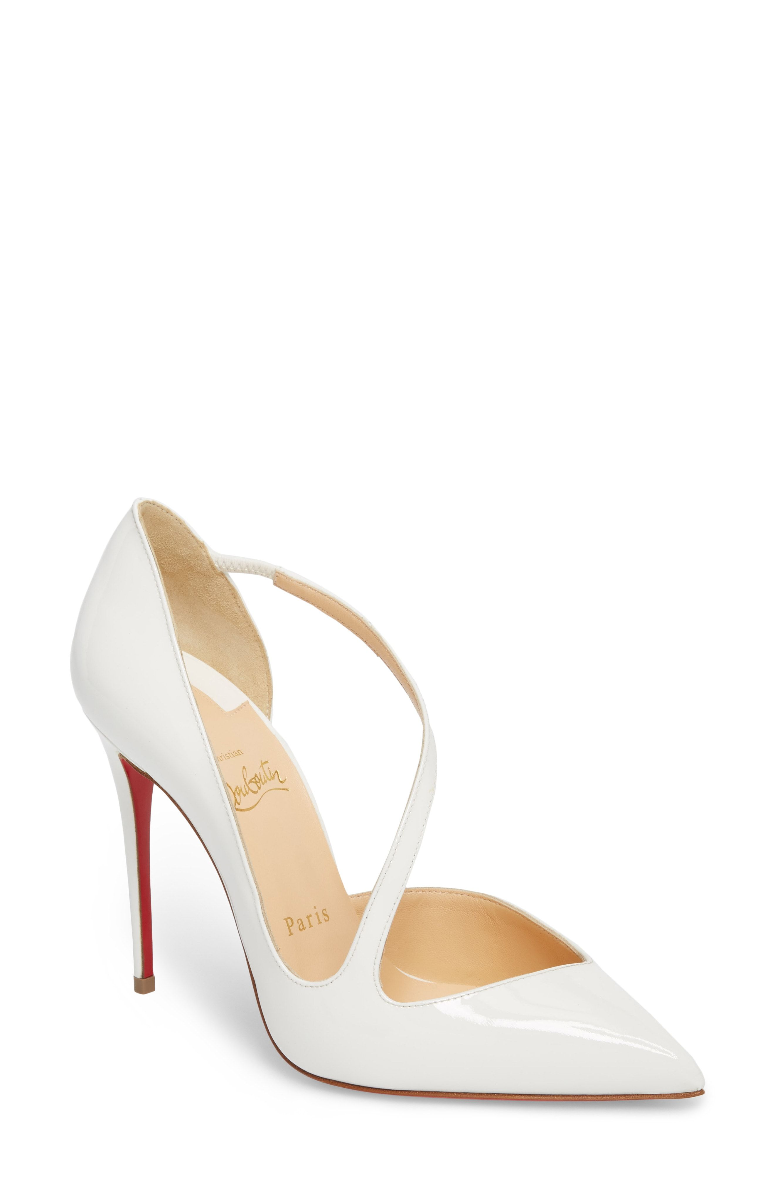 59e7ee100a4a Christian Louboutin Strappy Half d Orsay Pump