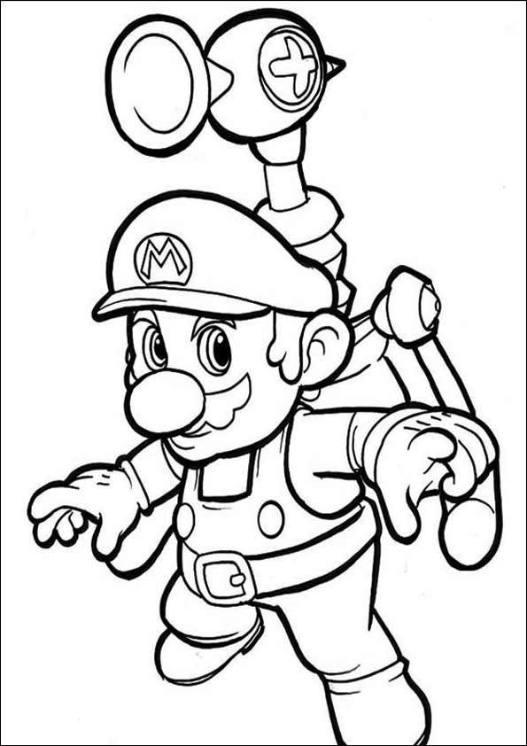 Ausmalbilder Super Mario Bros ~ Kostenlos zum Ausdrucken