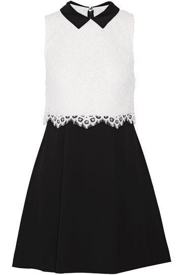 ALICE + OLIVIA Desra corded lace and crepe mini dress 159 € https://