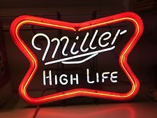 Vintage Neon Beer Signs Vintage Old Miller High Life Beer Neon Sign Bar Light Flasher Style
