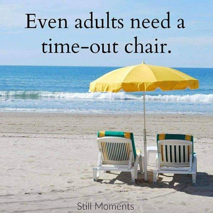Even adults need a time-out chair. | Let's do a beach ...