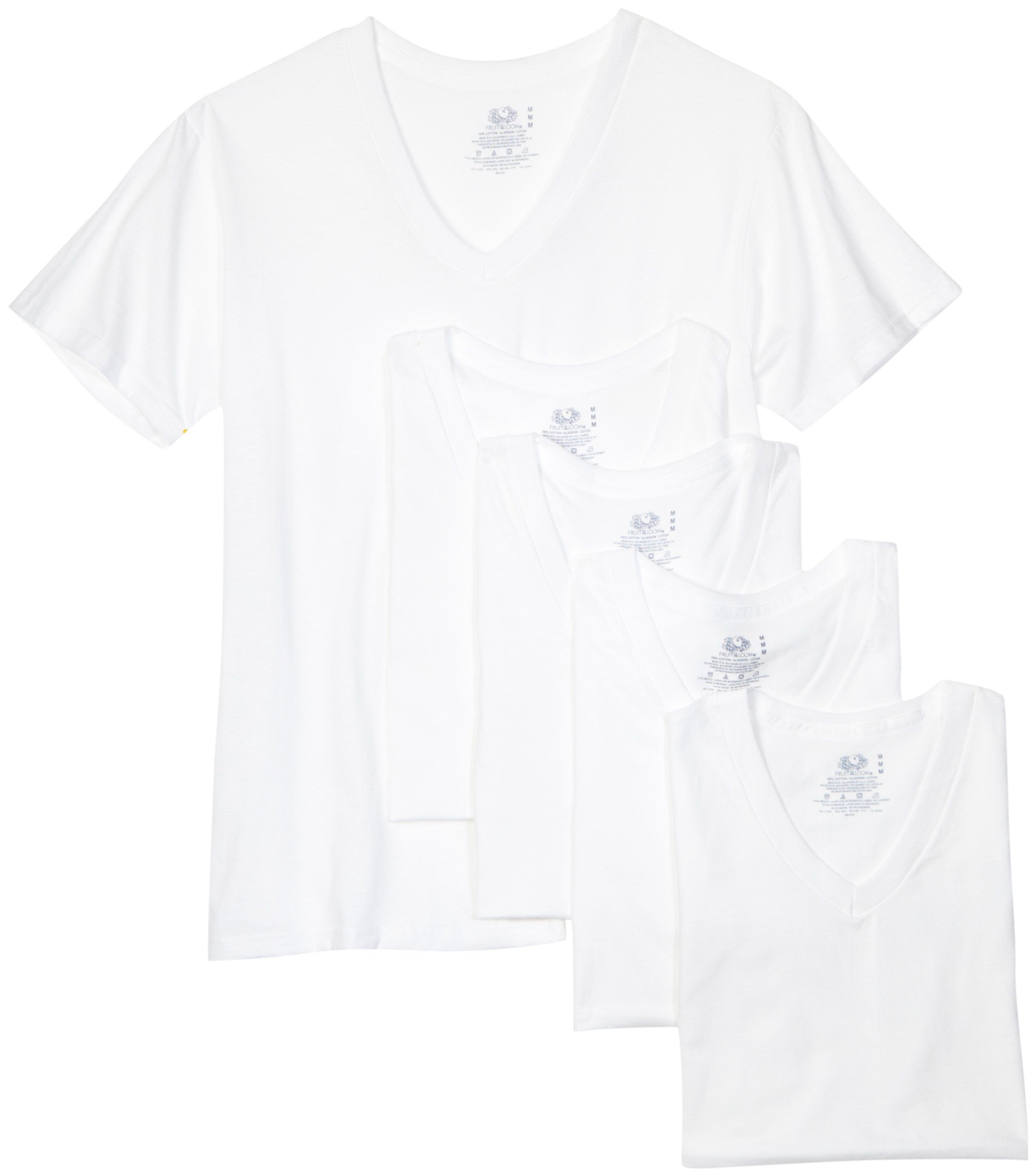Fruit of the loom mens vneck tee pack of 5 at amazon