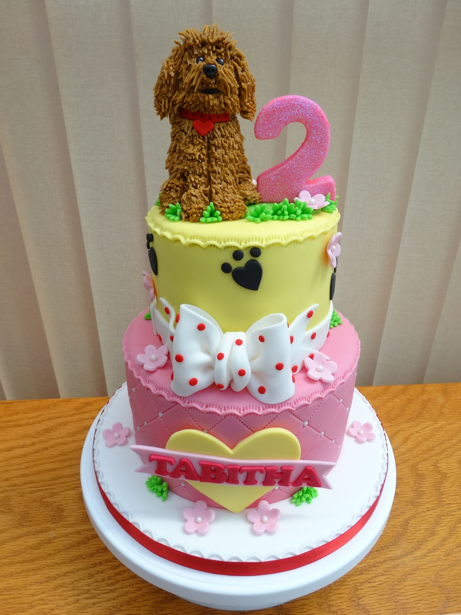 Waffle The Wonder Dog Cake XMCx Baby Girl Birthday Ideas