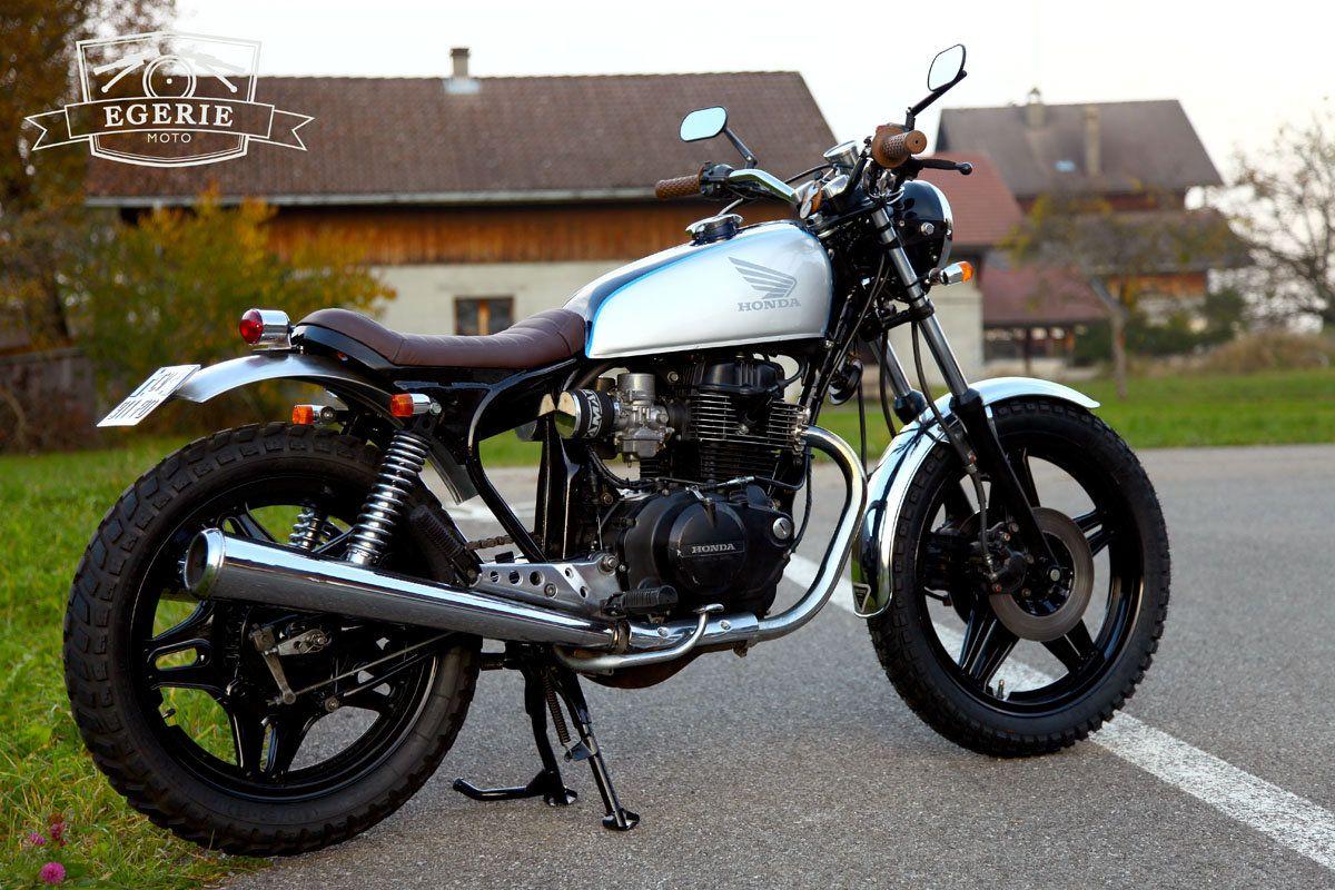 La Petite Derniere De Latelier Egerie Moto Une Honda CB 400 N Arrangee En Scrambler Par Nico Pour Le Plus Grand Bonheur Son Proprio Jean No
