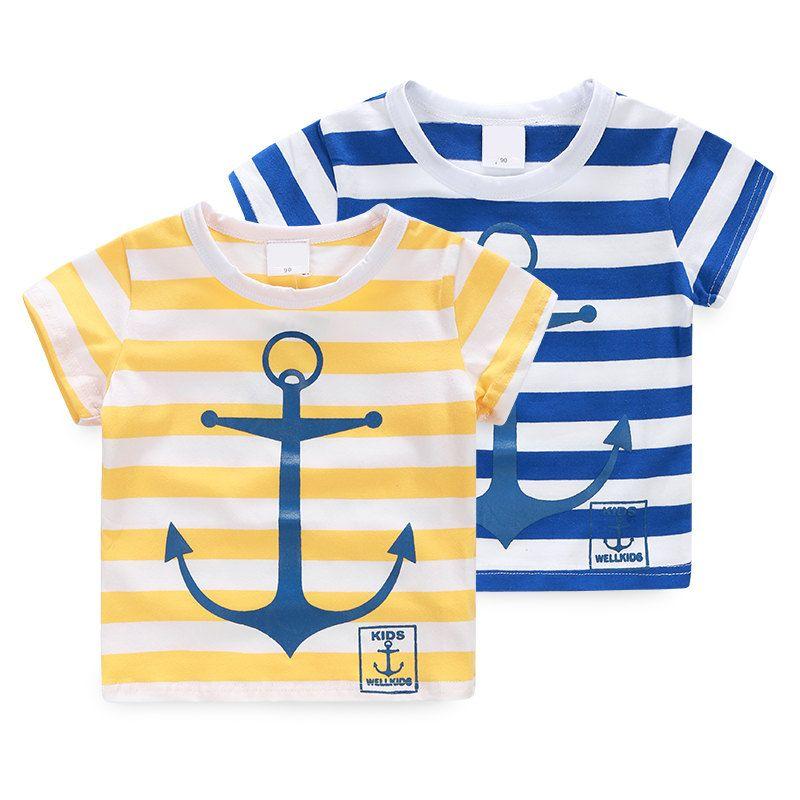 >> Click to Buy << YN-951, summer children boys t shirt, anchor stripe basic shirt #Affiliate