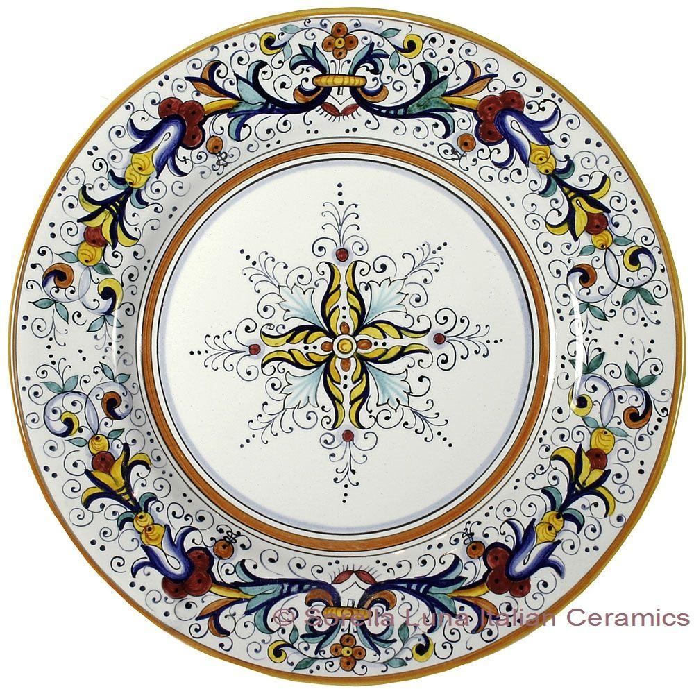 ceramic-majolica-dinner-plate-ricco-deruta-center-29cm  sc 1 st  Pinterest & ceramic-majolica-dinner-plate-ricco-deruta-center-29cm   Plates ...