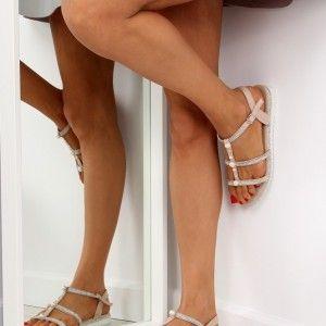 cb3a8182e5 Nízke dámske sandále na leto ružovej farby (5)
