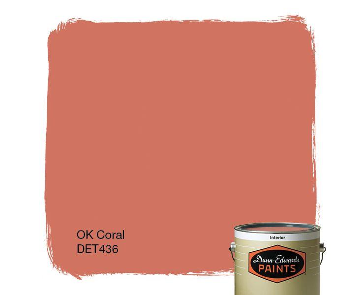 DunnEdwards Paints paint color OK Coral DET436 Click